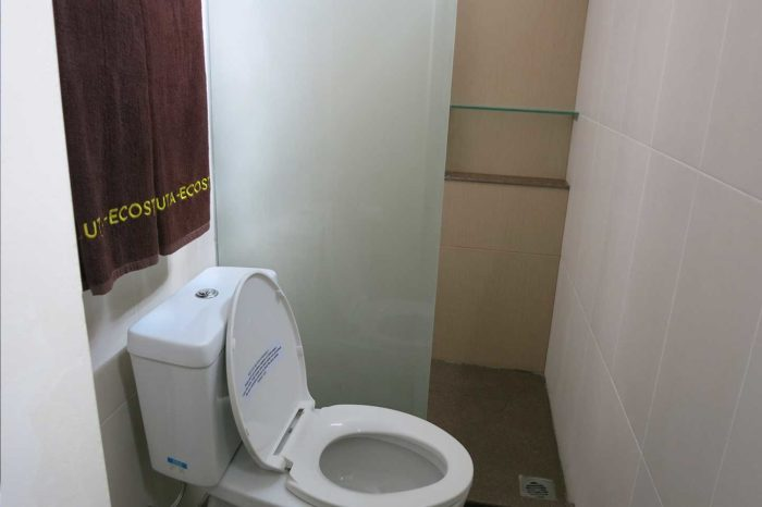 Kuta Ecostay - Separate WC and shower, two-flush toilet system