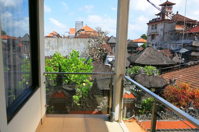 View over the heart of Kuta from first floor